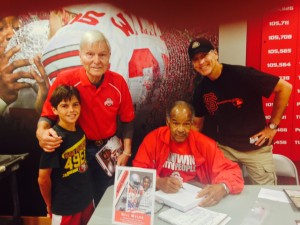 Dick Nosky and family.  Signing for 3 generations of Buckeyes!