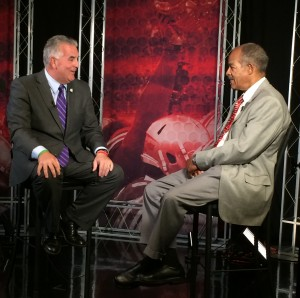 Dom and Bill on the WBNS Set